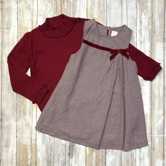 NWT Gymboree Plaid Dress Toddler Holiday Christmas Outlet 12-18M,2T,3T